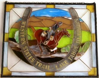 2010 Tevis Stained Glass Fund raiser for Western States Trail Foundation Donated by Holly Foiles