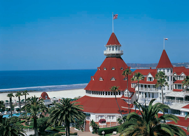 Hotel Del Coronado is one of the most famous landmarks in California