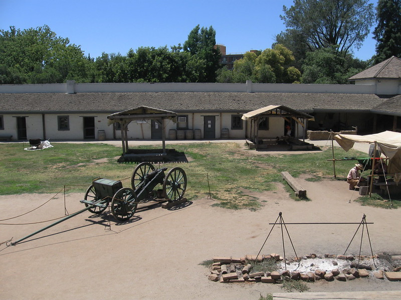 Sutters Fort is an important California Landmark