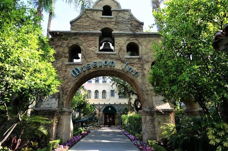 The Mission Inn in Riverside is a Calfiornia Landmark