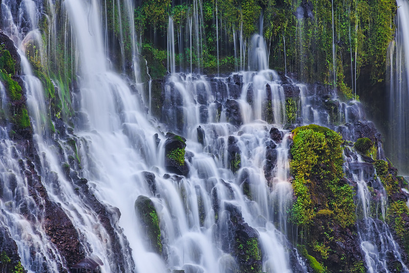 Burney Falls are some of the beautiful waterfalls in California