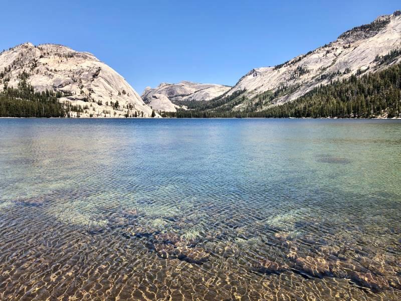 The walk around Tenaya Lake is one of the easy hikes in Yosemite.