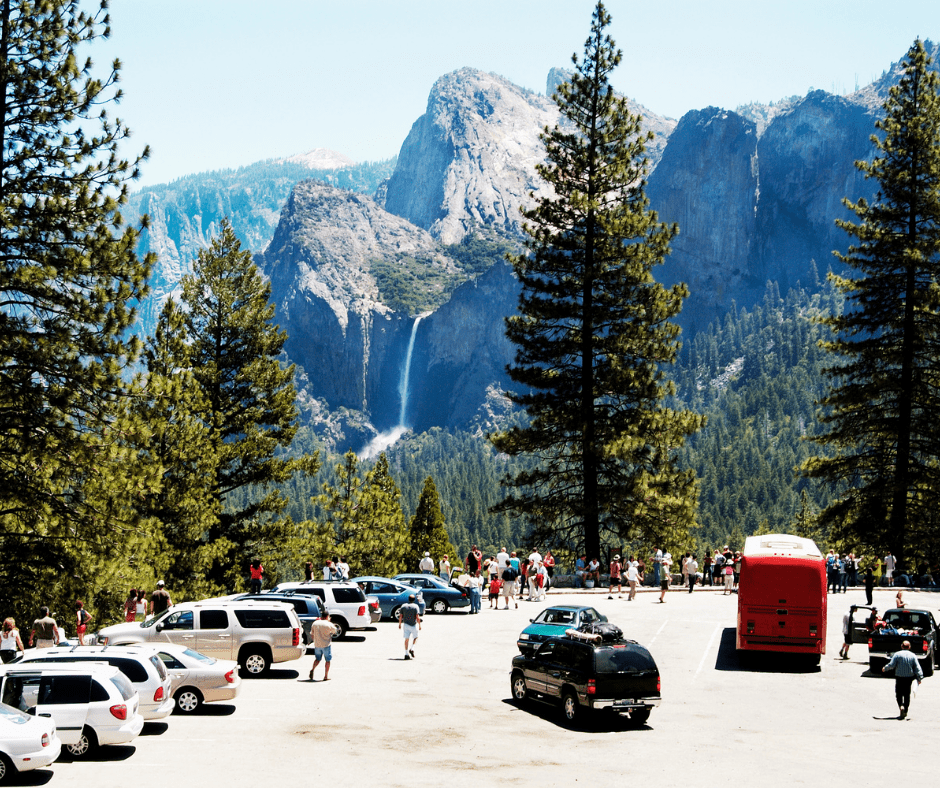 Crowds are Common in Yosemite During the Summer and on Holiday Weekends