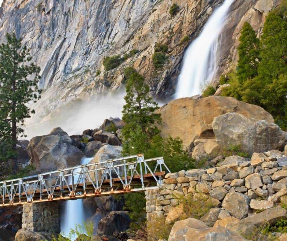 Wapama Falls in Hetch Hetchy at Yosemite National Park