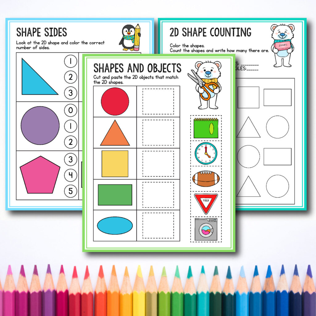 Free Preschool Amp Kindergarten Shapes Worksheets For Toddlers
