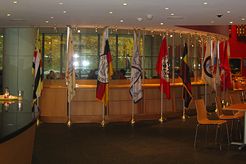 Tribal Flag Flies Proudly at the Smithsonian National Museum of the American Indian, Washington, D.C.