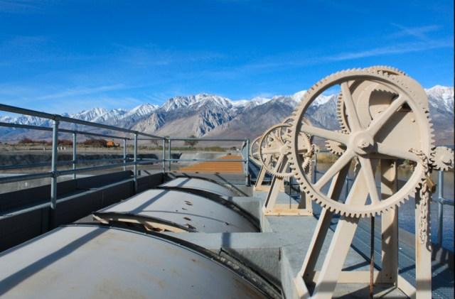 The Los Angeles Aqueduct intake, Owens Valley. Photo by Chris Austin