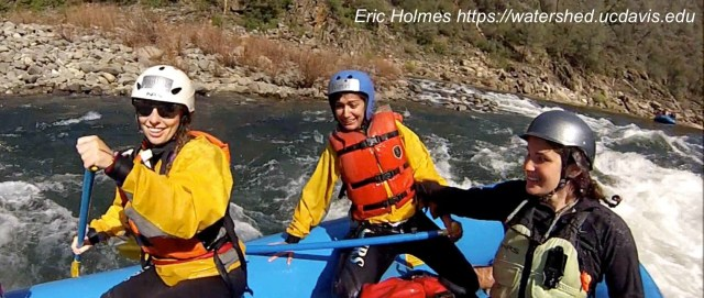 """Rafting guide trainees celebrate passage through """"Surprise,"""" the last rapid in their run. Photo by Eric Holmes"""