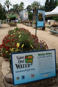outdoor exhibit featuring water-wise garden beds with drought-tolerant plants is on display in the Farm section at the 2014 California State Fair. Photo by Kelly M. Grow, California Department of Water Resources