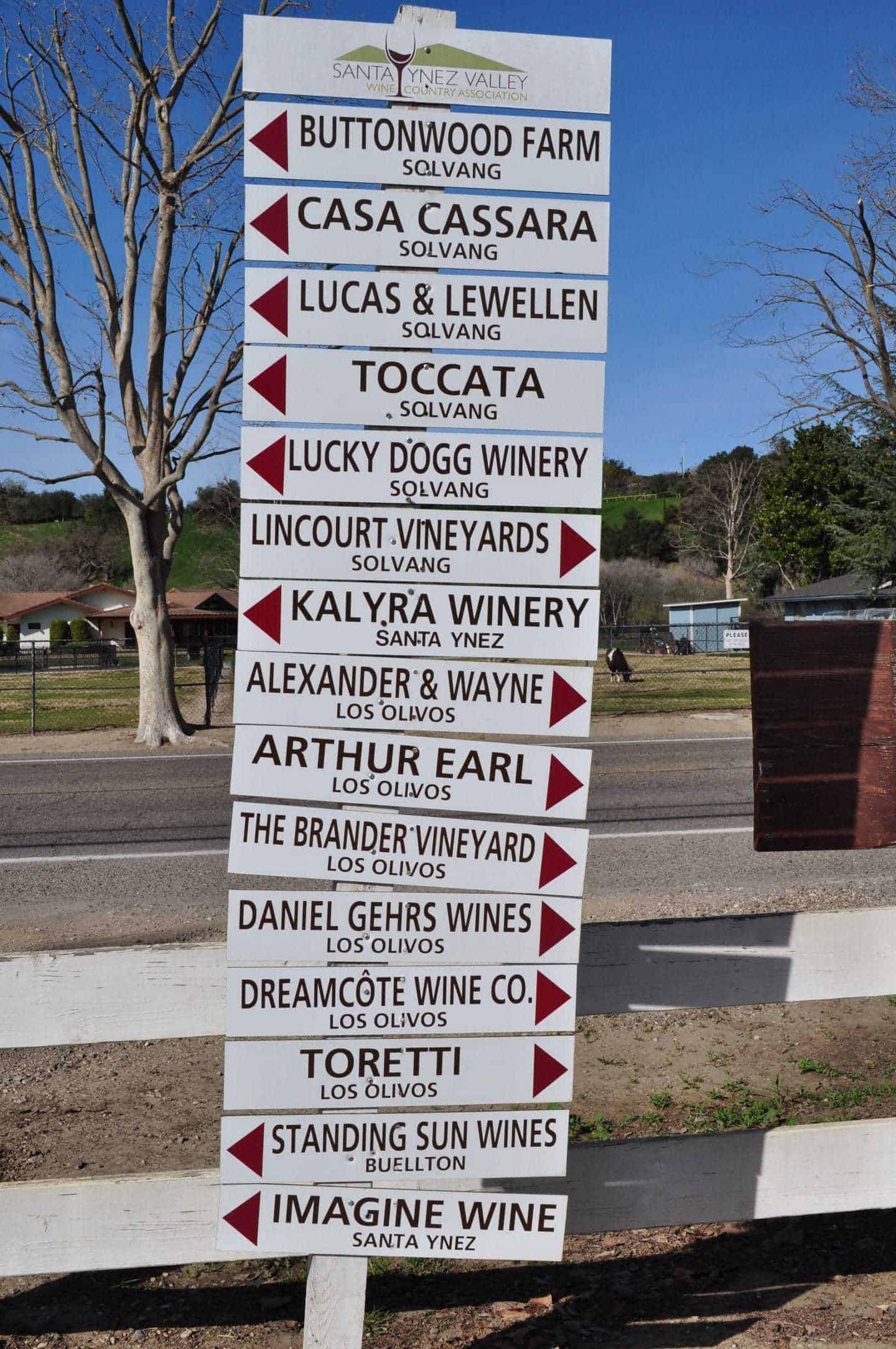 santa ynez valley winery list