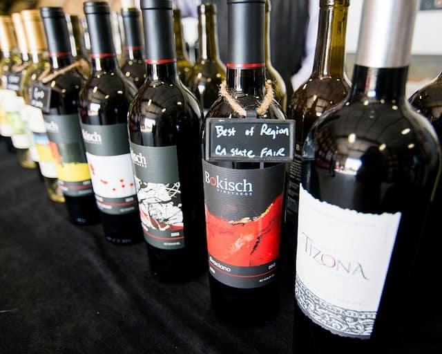 wine at bokisch winery lodi ca