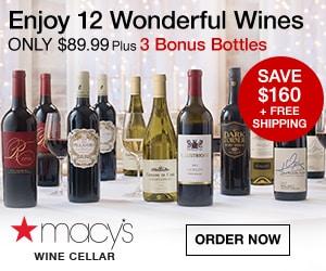 Macy's cellars wine club discounted wine tasting options