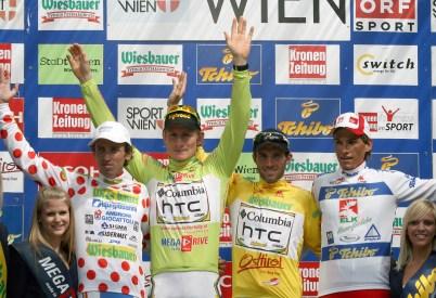 Leonardo Bertagnolli, André Greipel, Michael Albasini, Stefan Denifl - Österreich-Rundfahrt 2009