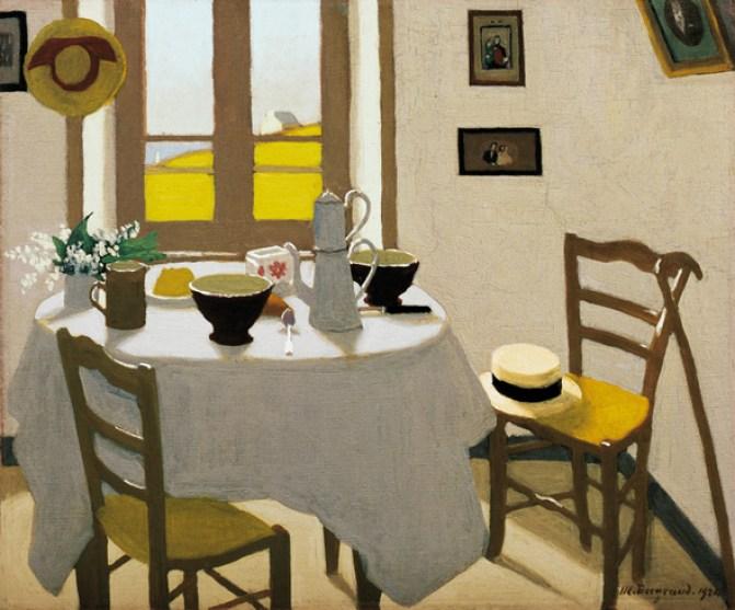 La chambre blanche par le peintre suisse Marius Borgeaud, 1924, huile sur toile, collection privée.