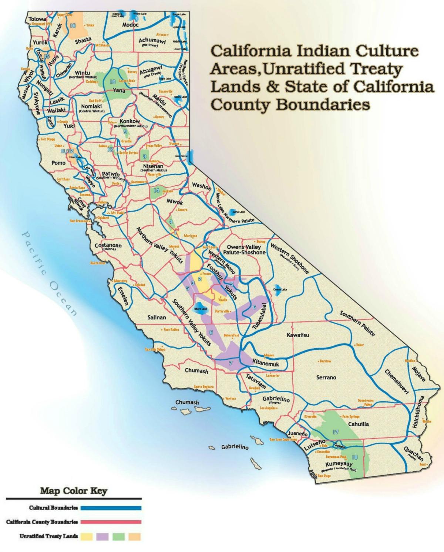 California Unratified Treaties Map