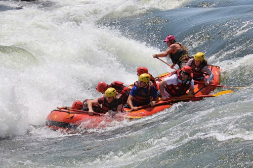 white water rafting second rapid