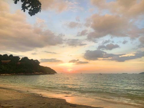 Sunset on sunset beach on Koh Lipe