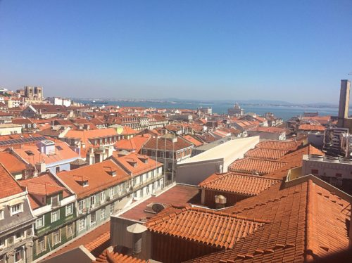 View on free walking tour in Lisbon