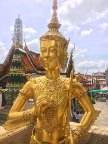 A golden statue at the Grand Palace in Bangkok-one of the best destinations in Thailand