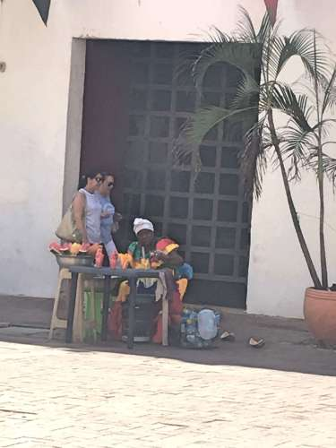 Fruit lady in Cartagena