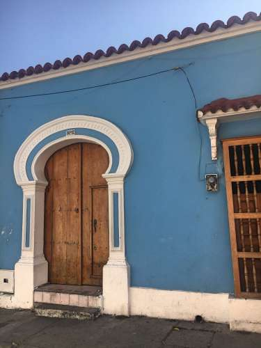 Blue house in Cartagena