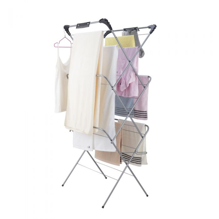 3 tier laundry clothes horse drying airer rack indoor and outdoor 14m