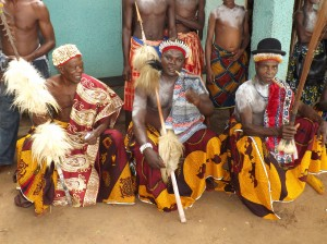 """Gaily dressed traditional chiefs are an i8ntegral part of the ''Leboku"""""""