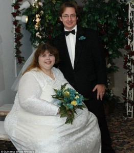 Pauline and Alex Potter on their wedding day