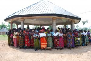Widows in Utugwang praying for Oti