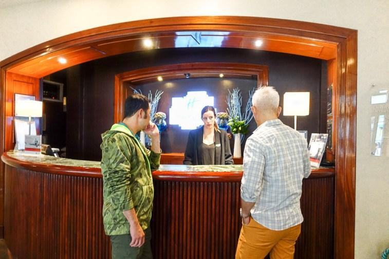 holiday inn nice France reception