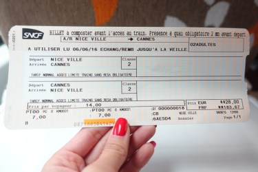 nice to cannes ticket cost