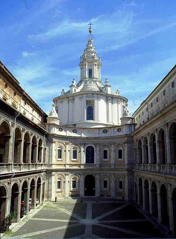 Exterior: Sant'Ivo alla Sapienza, Rome