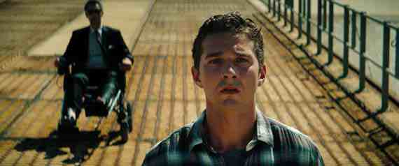 Shia LeBeouf as Sam Witwicky and John Turturro as Former Agent Simmons