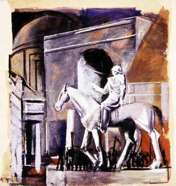 Mario Sironi: Leader on Horseback