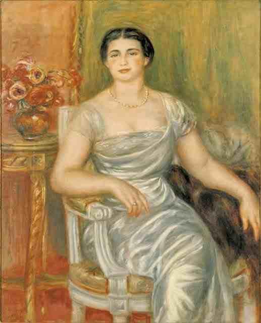 Renoir: Portrait of the Poet Alice Vallière-Merzbach