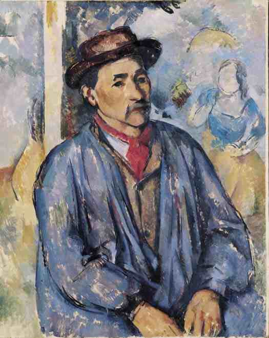 Cezanne: Peasant in a  Blue Smock
