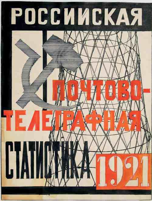 Lyubov Popova Design for the cover of Russian Postal-Telegraph Statistics