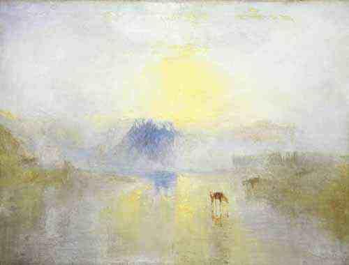 Norham Castle, Sunrise by J.M.W Turner