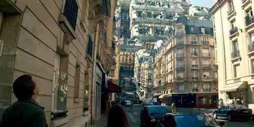 Paris upside down in Inception