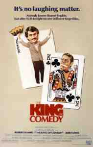 Poster for Scorsese/De Niro/Lewis Film The King of Comedy