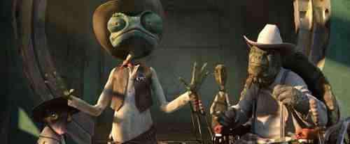 Johnny Depp leads the spirited voice cast of Rango.
