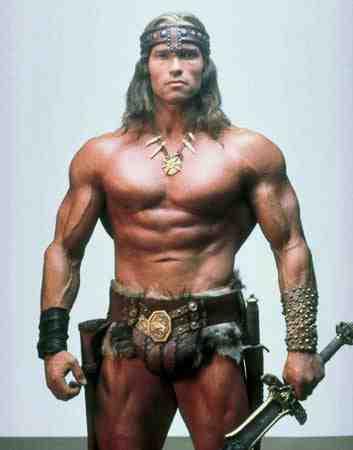 Arnold Schwarzenegger as Conan the Barbarian