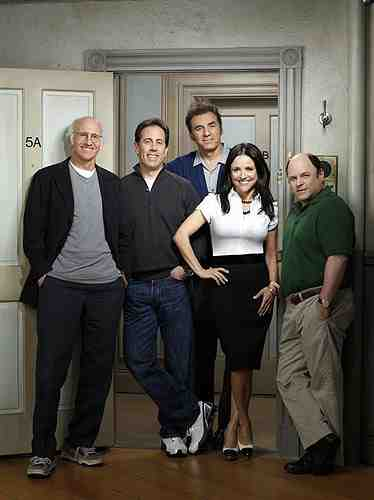 The cast of Seinfeld and Larry David