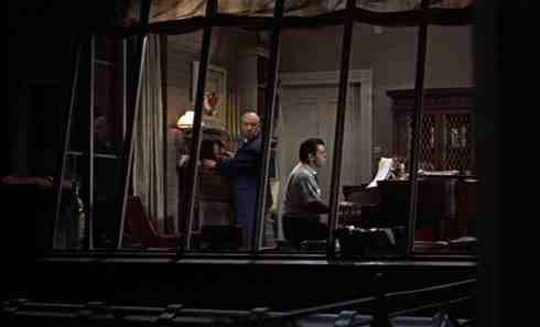 Alfred Hitchcock's cameo in his film Rear Window