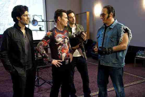 Andrew Dice Clay on Entourage with Adrian Grenier, Rhys Coiro, and Kevin Dillon.