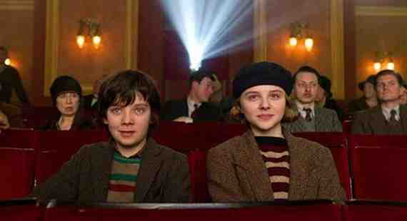 Chloe Grace Moretz as Isabelle and Asa Butterfield as Hugo in Martin Scorsese's Hugo