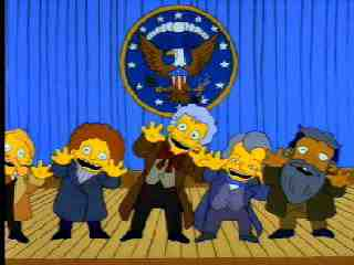 The Mediocre Presidents From I Love Lisa in The Simpsons
