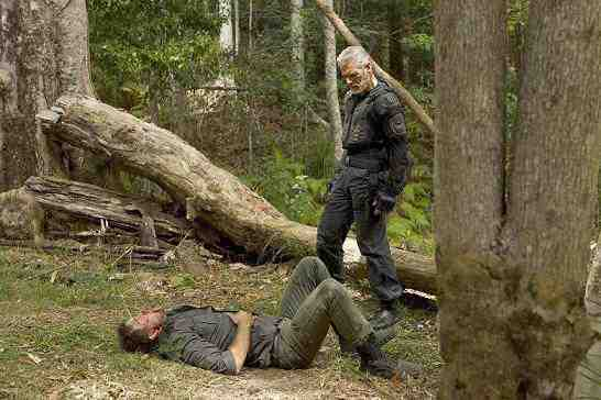 Stephen Lang and Ashley Zukerman in Terra Nova Occupation