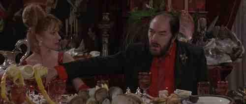 Michael Gambon puts in a towering performance of degenerate behavior as Albert Spica