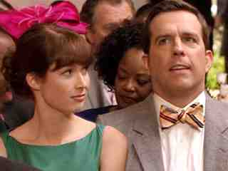 Ellie Kemper as Erin and Ed Helms as Andy in The Office